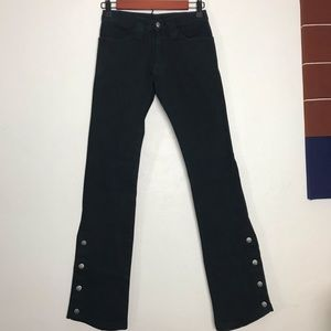 Serious Clothing Black Spat Pant Bootcut Jeans